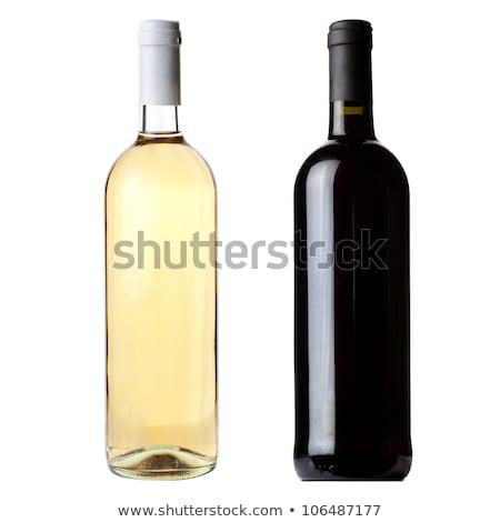a bottle of white wine isolated on white stock photo © kayros