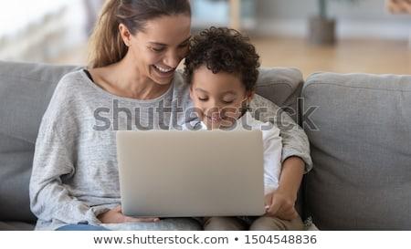 Kicsi fiú közelkép portré gyönyörű boldog Stock fotó © Andersonrise