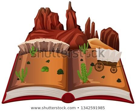 Libro abierto occidental desierto libro diseno arte Foto stock © bluering