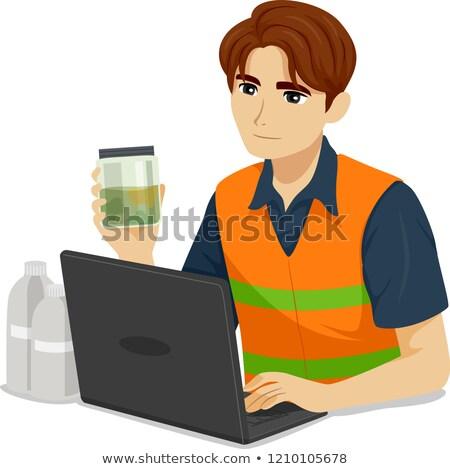 Adolescente menino ambiental engenheiro ilustração adolescente Foto stock © lenm