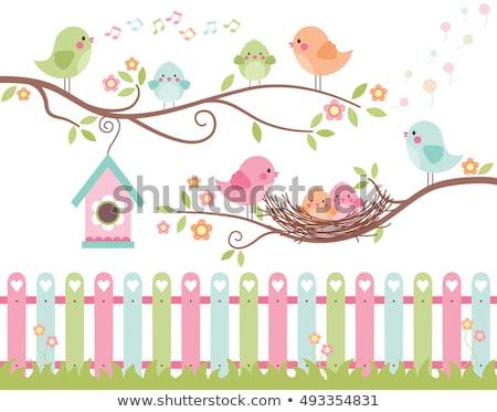 Nino nino primavera canción ilustración jugando Foto stock © lenm