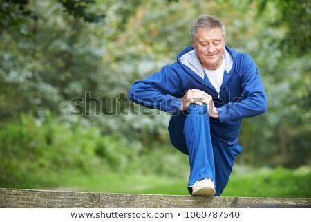 Senior uomo campagna eseguire sport Foto d'archivio © HighwayStarz