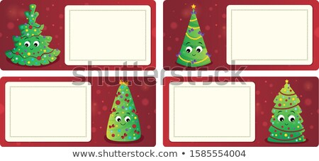 Stylized Christmas theme cards 1 Stock photo © clairev