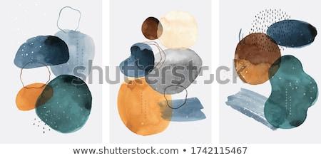 Resumen acuarela cepillo mancha banners establecer Foto stock © SArts