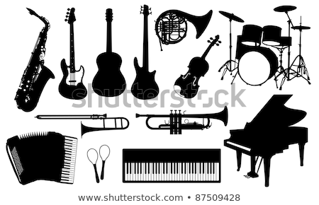 Collection of musical keyboard instrument. Isolated icons set of music key boards on white backgroun Stock photo © designer_things