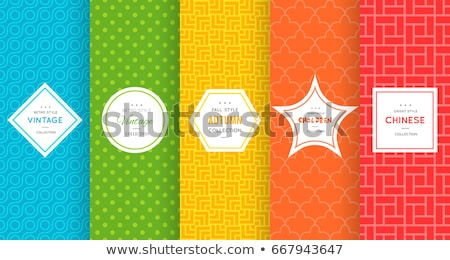 Summer stickers color seamless pattern Stock photo © barsrsind