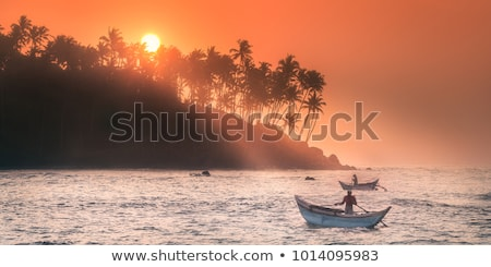 Ocean sunset panorama. Mirissa, Sri Lanka Stock photo © dmitry_rukhlenko