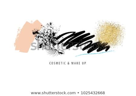 Golden make-up smear Stock photo © goir