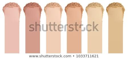 Crushed face powder and makeup brush Stock photo © goir