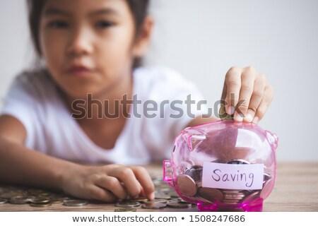 Dinheiro banco homem cinqüenta centavo peça Foto stock © elvinstar