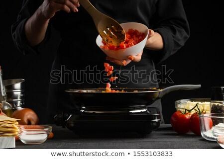 повар · Creative · продовольствие · смешные · Cartoon · овощей - Сток-фото © photography33