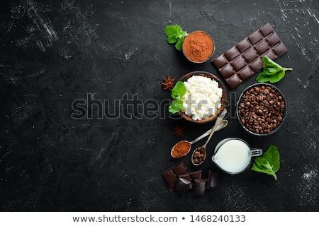 Tiramisu café chocolate frescos dulce Foto stock © M-studio