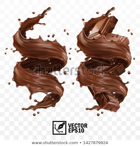 napojów · gorąca · czekolada · czarny · czekolady · pić - zdjęcia stock © arsgera