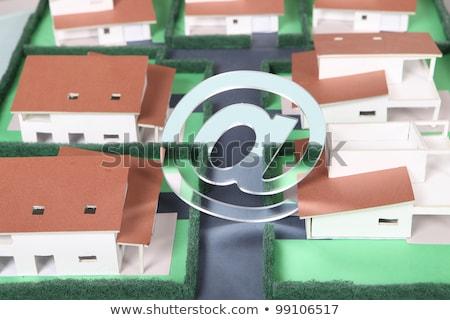 E-mail symbol above model housing Stock photo © photography33