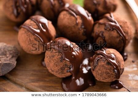 Various chocolate pralines Stock photo © marekusz