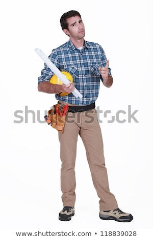 portrait of carpenter looking disgruntled Stock photo © photography33