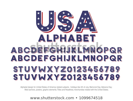 Colored alphabet with stripes and stars Stock photo © gubh83