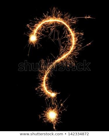 question mark sparkler Stock photo © Paha_L