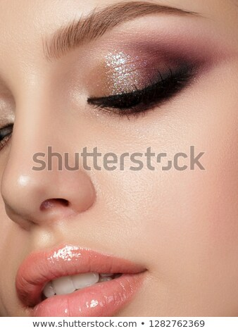 Model aşırı makyaj stüdyo high fashion yüz Stok fotoğraf © tobkatrina
