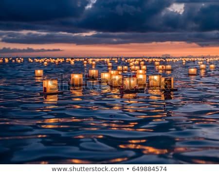 Mumlar ışık karanlık tatil kutlama Stok fotoğraf © MKucova