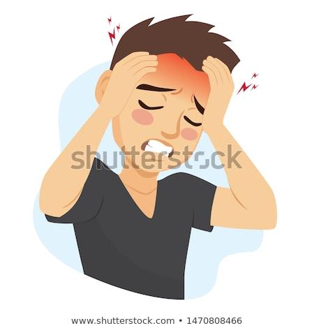 Medicine and disease - headache or migraine Stock photo © Kzenon