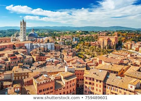 глубокий · Blue · Sky · Церкви · кирпичных · Тоскана · древних - Сток-фото © smuki