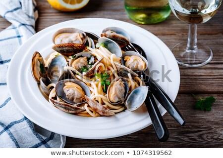Makaronu owoce morza naczyń ryb morza metal Zdjęcia stock © stevemc