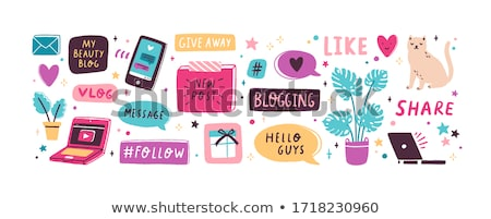 Blog bouton vecteur affaires internet web Photo stock © burakowski