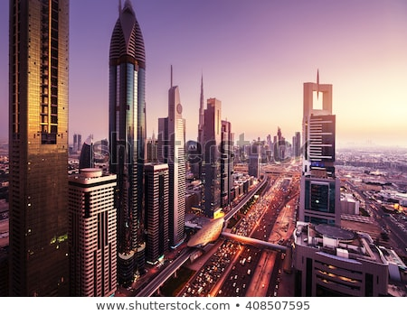 Dubai · Innenstadt · Nacht · city · lights · Luxus - stock foto © bloodua