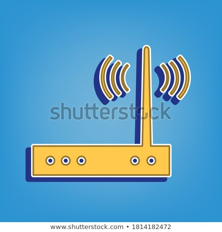 Plug Sign Golden Vector Icon Button Stock photo © rizwanali3d