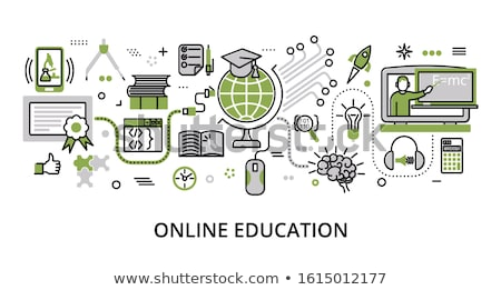 green education icon Stock photo © nickylarson974