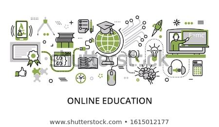 green education icon Stock photo © nickylarson974