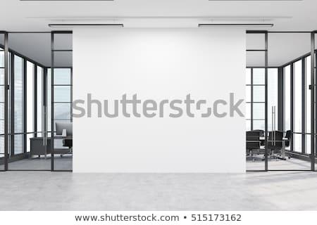 Architektoniczny ściany projektu pusty lobby nowoczesne Zdjęcia stock © stryjek