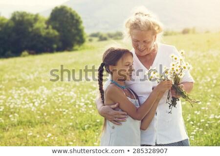 笑みを浮かべて 孫娘 祖母 立って 庭園 ストックフォト © wavebreak_media
