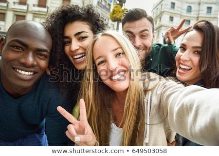 2 笑みを浮かべて 友達 カメラ 公園 ストックフォト © wavebreak_media