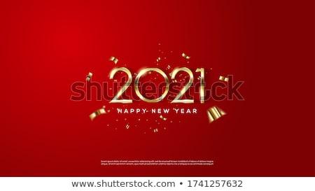 Nouvelle année rouge carte gradient résumé Photo stock © adamson