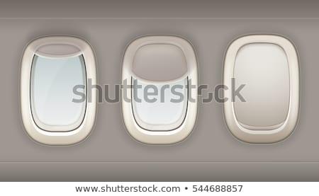 3  窓 飛行機 実例 デザイン フレーム ストックフォト © colematt