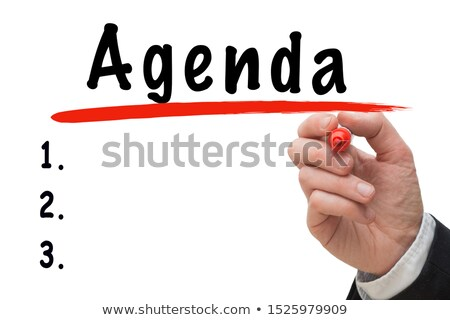 Word Agenda Handwritten With White Marker Stock photo © ivelin