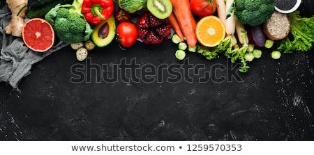 Stockfoto: Groenten · hout · organisch · knoflook · rustiek · vers · voedsel