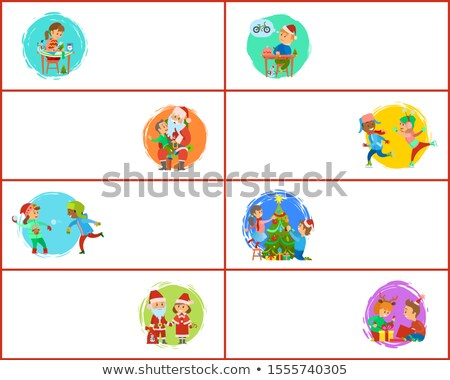 handcrafted gifts of girl tree decoration web stock photo © robuart
