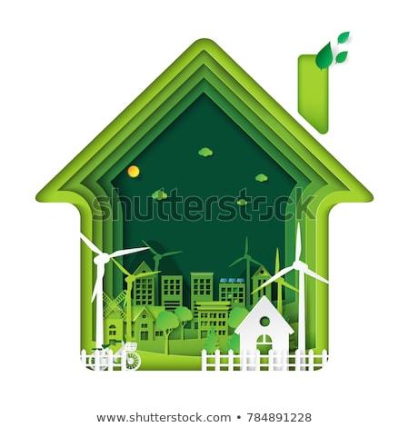 Eco house concept vector illustration. Stock photo © RAStudio