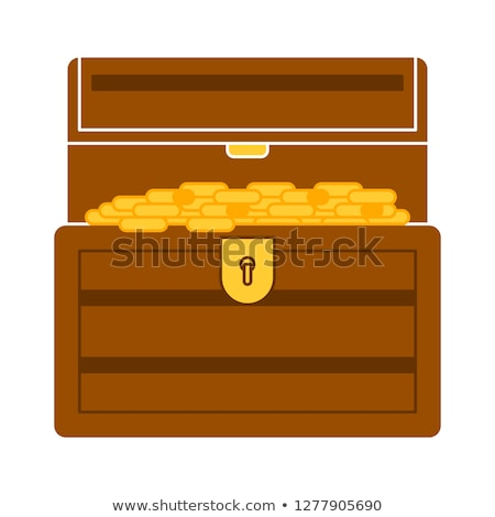 Zárolt kincs doboz izolált illusztráció művészet Stock fotó © bluering