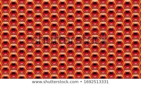 オレンジ 赤 六角形 ベクトル 実例 テクスチャ ストックフォト © cidepix
