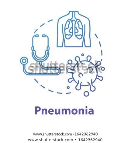 ícone · pulmão · pneumonia · doença · asma · câncer - foto stock © rastudio