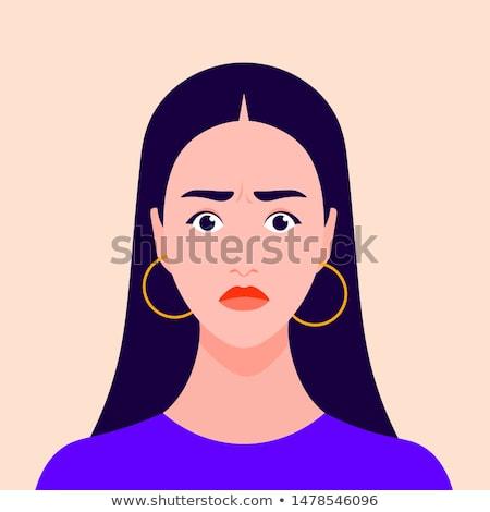 Girl Nervousness Illustration Stock photo © lenm