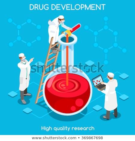 Farmaceutica ricerca vettore metafora chimica liquido Foto d'archivio © RAStudio