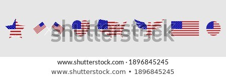 form of usa stickers set stock photo © fotoscool