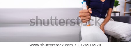 African American Patient Epinephrine Vaccine Injection Stock photo © AndreyPopov