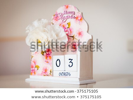 beautiful pink calendar as a souvenir date 03 oktober Stock photo © ruslanshramko