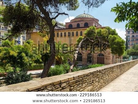 Salónica Grecia uno iglesias ciudad verano Foto stock © borisb17